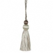 Wemyss Ioko key / cushion tassel - Decorative sewing trimming trim - Grey silver